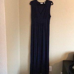 Maxi Dress, Navy Blue